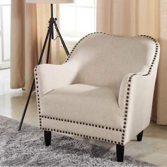 Baxton Studio Seibert Linen Modern Arm Chair