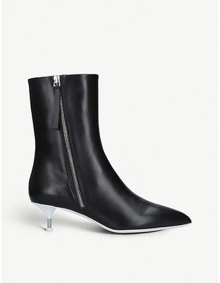 Jil Sander Leather pointed-toe boots