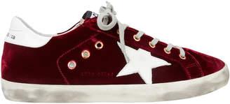 Golden Goose Superstar Red Velvet Low-Top Sneakers