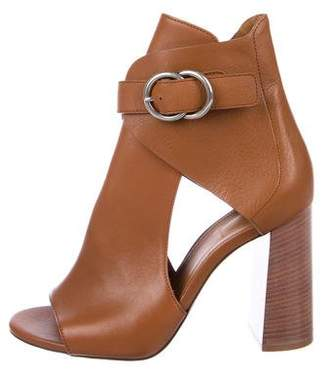 Chloé Leather Cutout Booties