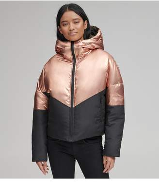 Andrew Marc Luna Metallic Down Jacket