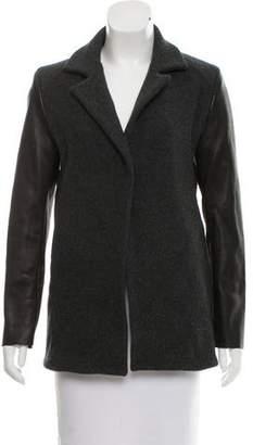 Ter Et Bantine Leather-Trimmed Wool Blazer