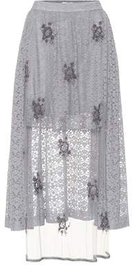 Stella McCartney Embellished lace skirt