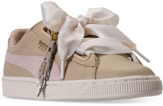 Puma Women's Basket Heart Coach Casual Sneakers from Finish Line