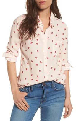 Women's Rails Rocsi Strawberry Print Shirt $148 thestylecure.com