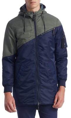 Madison Supply Bi-Color Quilted Bomber Jacket