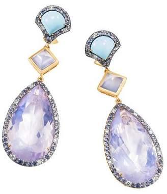 John Hardy 18K Yellow Gold Cinta Naga Multi-Stone Drop One-of-a-Kind Earrings with Diamonds - 100% Exclusive
