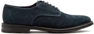 Fratelli Rossetti Woven-suede derby shoes