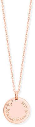 Merci Maman Personalized Edge Charm Necklace