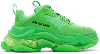 Balenciaga Green Triple S Sneakers