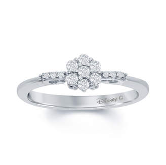 ENCHANTED FINE JEWELRY BY DISNEY Enchanted Disney Fine Jewelry 1/4 C.T. T.W. Genuine Diamond 10K White Gold Cinderella Carriage Ring