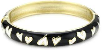 Betsey Johnson and White Heart Bangle Bracelet