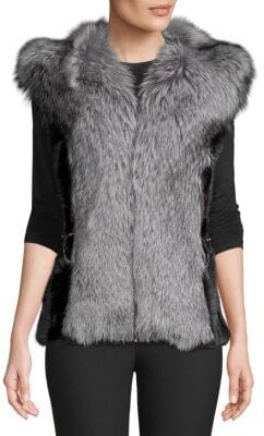 Made For Generation Dyed Mink and Fox Fur Vest