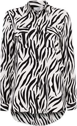 a1ca49c50ca WallisWallis Monochrome Zebra Print Shirt