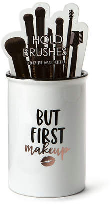 "Tricoastal Design Tri-coastal Design Tri-Coastal ""But First Makeup"" Ceramic Brush Holder"