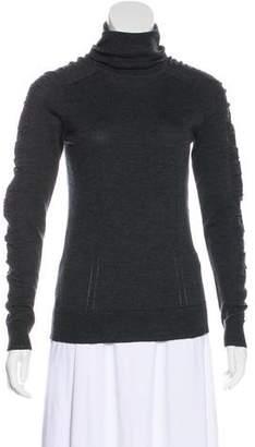 Milly Merino Wool Turtleneck Top