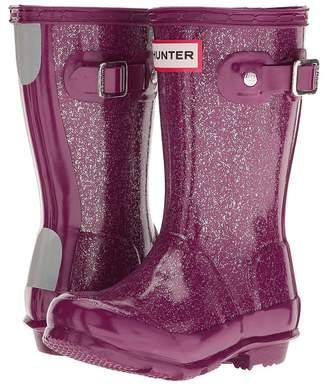 Hunter Original Kids' Glitter Finish Wellington Rain Boots Kids Shoes