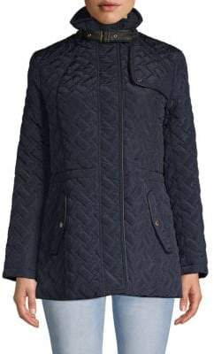 Cole Haan Quilted Zip Jacket