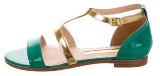 Rupert Sanderson Patent Leather Ankle Strap Sandals