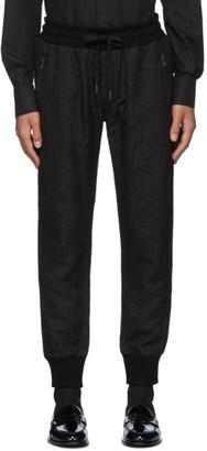 Dolce & Gabbana Black Jacquard Lounge Pants