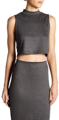 OnTwelfth Mock Neck Boxy Crop Top