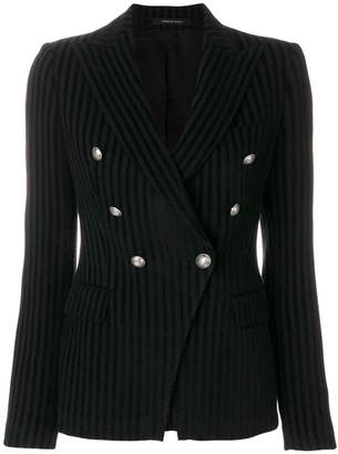 Tagliatore striped double-breasted blazer