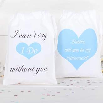 red berry apple Will You Be My Bridesmaid Personalised Cotton Bag