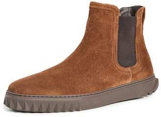 Salvatore Ferragamo Talos Suede Sneaker Boots