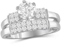 Diamonice 1 3/4 Carat T.W. White Cubic Zirconia Sterling Silver Ring