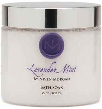 Niven Morgan Lavender Mint Bath Salt Jar, 22 oz.