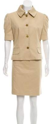 Dolce & Gabbana Short Sleeve Skirt Suit