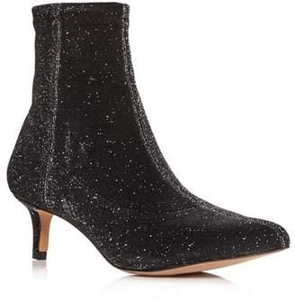 d4109862eefa Rebecca Minkoff Women s Sayres Glitter Kitten-Heel Booties