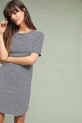 Three Dots Iris Striped Petite Dress