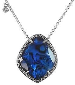 Suspicion Sterling Blue Abalone & Marcasite Pendant w/ Chain