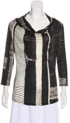 Max Mara Patterned Cowl Neck Top
