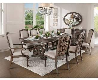 """HOMES: Inside + Out 96"""" Darja Formal Dining Table Brown - HOMES: Inside +Out"""
