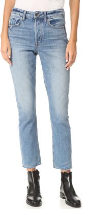 Helmut Lang High Rise Crop Jean $310 thestylecure.com
