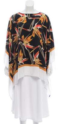 Fendi Bird Of Paradise Silk Cape