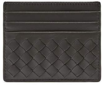 Bottega Veneta Intrecciato Leather Cardholder - Mens - Grey