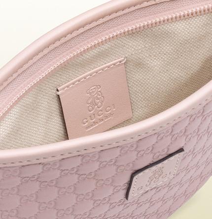Gucci Pink Microguccissima Leather Messenger Bag