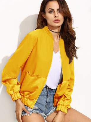 Shein Zip Up Bomber Jacket