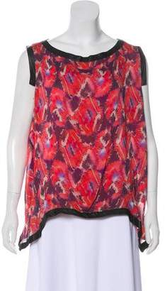 Thakoon Printed Sleeveless Blouse