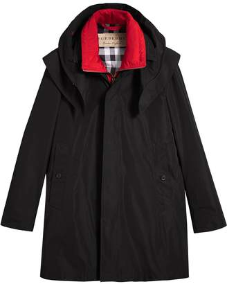 Burberry Taffeta Coat with Detachable Hood and Gilet