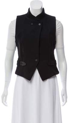 Alexander Wang Wool Leather-Trimmed Vest