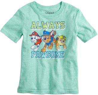 "Nickelodeon Boys 4-10 Jumping Beans Paw Patrol ""Always Pawsome"" Graphic Tee"