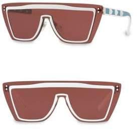 Valentino 46MM Stud Square Aviator Sunglasses