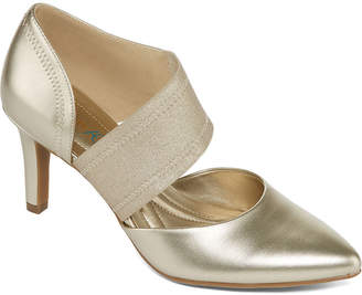 Andrew Geller Womens Tibby Pumps Pointed Toe Cone Heel