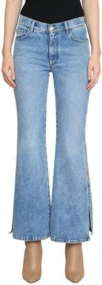 Maison Margiela Cropped Cotton Denim Jeans