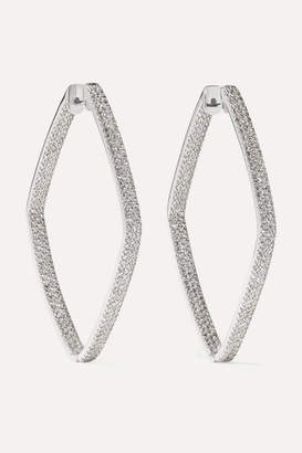 Ofira Rhombus 18-karat White Gold Hoop Earrings - one size