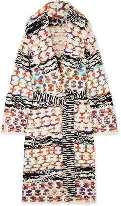 f72a56ce43 Missoni Belted Wool-blend Coat - White